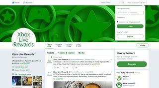 Xbox Live Rewards (@XboxLiveRewards) | Twitter
