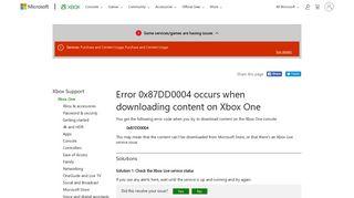 Error 0x87DD0004 | Download Error | Xbox One Error - Xbox Support