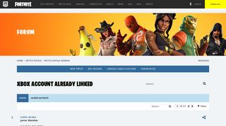 Xbox account already linked - Forums - Epic Games