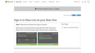 Sign In to Xbox Live on Your Xbox One - Xbox Support
