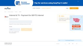 EasyPay - Internet & TV - Payment for XBYTE Internet