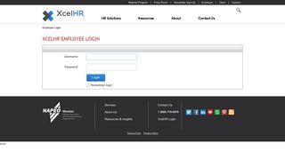 XcelHR Employee Login