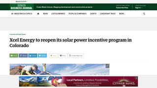 Xcel Energy to reopen its solar power incentive program in Colorado ...