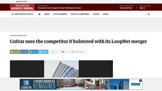 CoStar sues the competitor it bolstered with its LoopNet merger