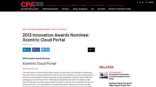 2013 Innovation Awards Nominee: Xcentric Cloud Portal