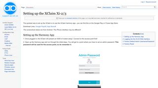 Setting up the XClaim Xi-2/3 - AAISP Support Site