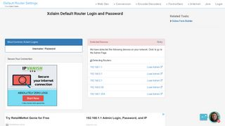 Xclaim Default Router Login and Password - Clean CSS