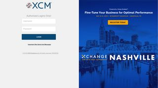 Authorized Logins Only! - XCM - Login