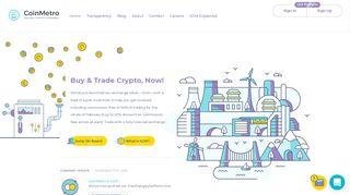 CoinMetro | The Crypto Exchange | Moving Crypto Forward