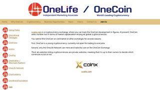 xcoinx - OneCoin – OneLife