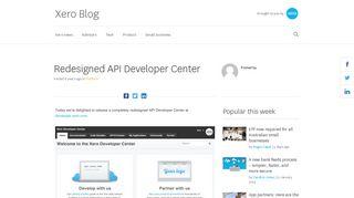 Redesigned API Developer Center - Xero Blog