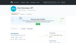 Xero Developer API · GitHub