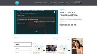 How to use My Payroll (Australia) - Xero TV
