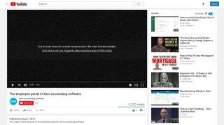 The employee portal in Xero accounting software - YouTube