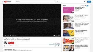 My Payroll inside the Xero employee portal - YouTube