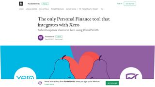 The only Personal Finance tool that integrates with Xero - Medium