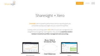 Xero + Sharesight Portfolio Tracker