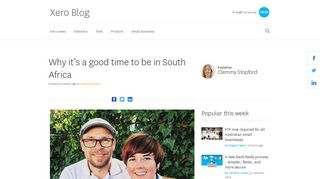 Making the move to South Africa with Xero