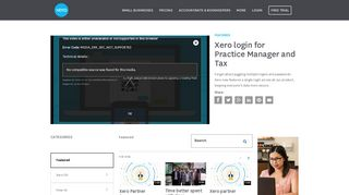 Xero login for Practice Manager and Tax - Xero TV