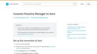Connect Practice Manager to Xero - Xero Central
