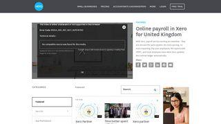 Online payroll in Xero for United Kingdom - Xero TV