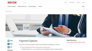 Payment Options - Xerox