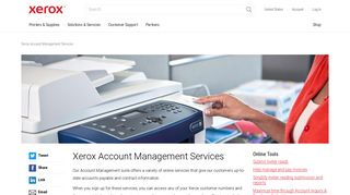 Xerox Account Management Services