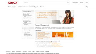 Access Xerox customer service online for your account management ...