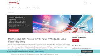 Xerox Partner Portal   Home
