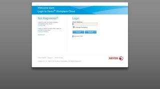 Xerox® Workplace Cloud - Log In