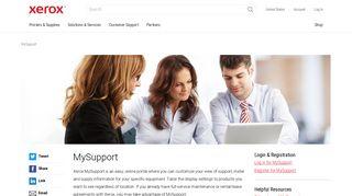 Xerox MySupport - Secure Support Portal