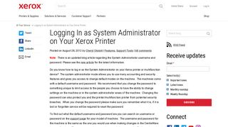 Logging In as System Administrator on Your Xerox Printer - At Your ...