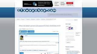 What is the default username and password for Xerox WorkCentre ...