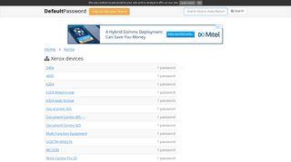 Xerox default passwords