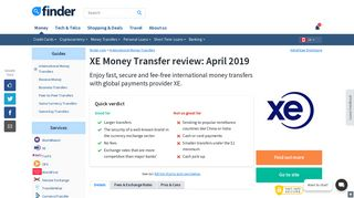 XE Money Transfers review - February 2019 | Finder Canada