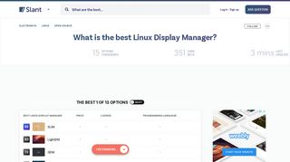 12 Best Linux Display Manager as of 2019 - Slant