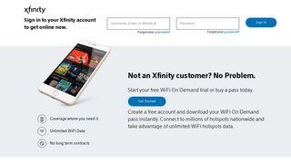 Xfinity wifi login