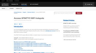 Access XFINITY® WiFi hotspots | Comcast Business