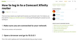 How to log in to a Comcast Xfinity router - howchoo