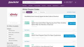 xfinity Coupons, Discounts 2019 - RetailMeNot