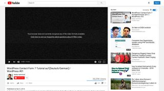 WordPress Contact Form 7 Tutorial auf [Deutsch/German] - YouTube