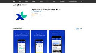 myXL–Cek Kuota & Beli Paket XL on the App Store - iTunes - Apple