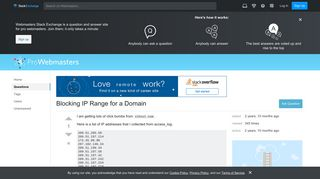 ip address - Blocking IP Range for a Domain - Webmasters Stack ...