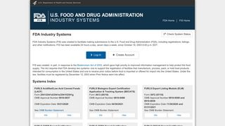 FDA Industry Systems