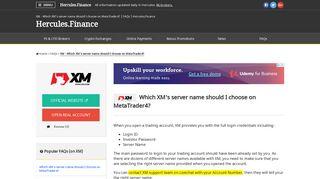 XM – Which XM's server name should I choose on MetaTrader4 ...