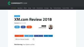 XM.com Review 2018 - Commodity.com