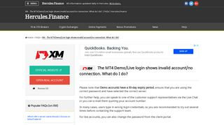 XM – The MT4 Demo/Live login shows invalid account/no connection ...