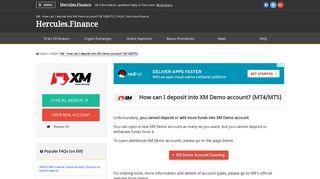 XM – How can I deposit into XM Demo account? (MT4/MT5) | FAQ ...