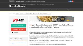 XM – I cannot login/access to XM MT4 WebTrader. Where is the ...
