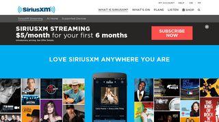 SiriusXM Streaming   SiriusXM Canada